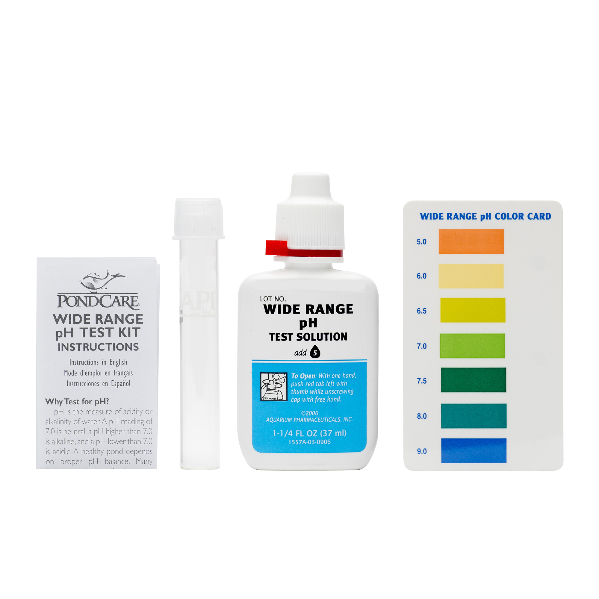 POND WIDE RANGE pH TEST KIT